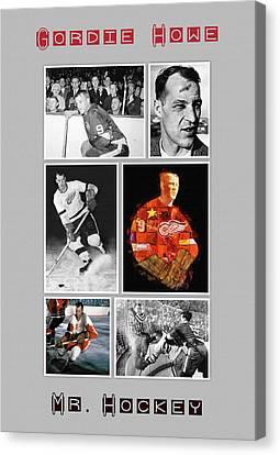 Gordie Howe Canvas Print - Gordie Howe by Big 88 Artworks