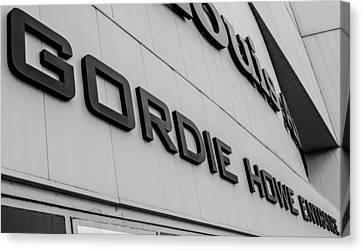 Gordie Howe Canvas Print - Gordie Howe Entrance by Justin Hicks
