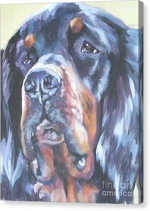 Gordon Setter Portrait Canvas Print by Lee Ann Shepard