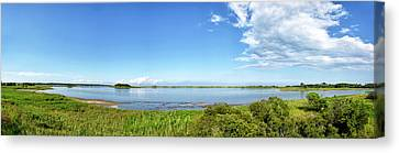 Gordons Pond Panorama - Cape Henlopen State Park - Delaware Canvas Print by Brendan Reals