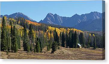 Canvas Print featuring the photograph Gore Autumn by Aaron Spong