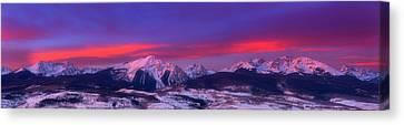Gore Range Sunrise Canvas Print