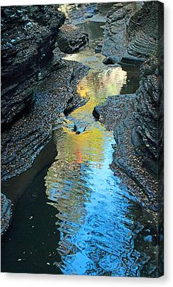 Gorge Abstract Canvas Print by Jessica Jenney