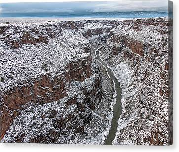 Canvas Print featuring the photograph Gorge In Snow by Britt Runyon