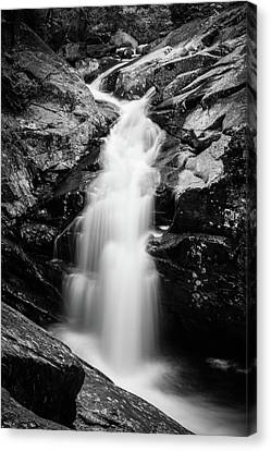 Gorge Waterfall In Black And White Canvas Print