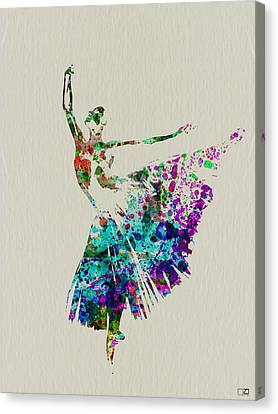 Gorgeous Ballerina Canvas Print by Naxart Studio