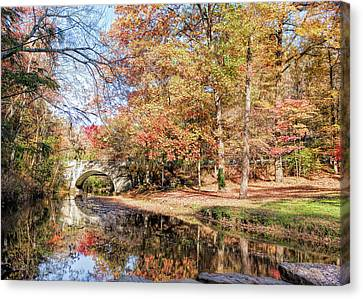 Canvas Print featuring the photograph Gorgeous Gulpha Gorge by John M Bailey