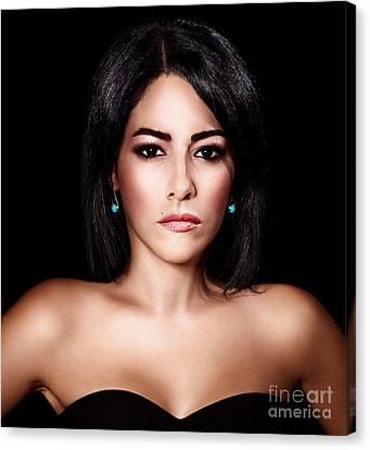 Gorgeous Woman Portrait Canvas Print