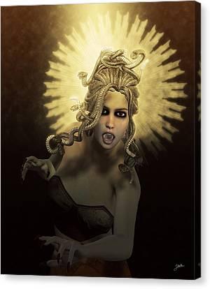 Gorgon Medusa Canvas Print by Joaquin Abella