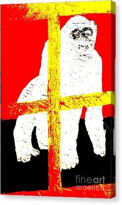 Gorilla Hogle Zoo 1 Canvas Print by Richard W Linford