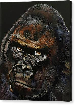 Gorilla Canvas Print by Michael Creese