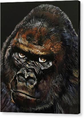 Gorilla Canvas Print by Michael Creese