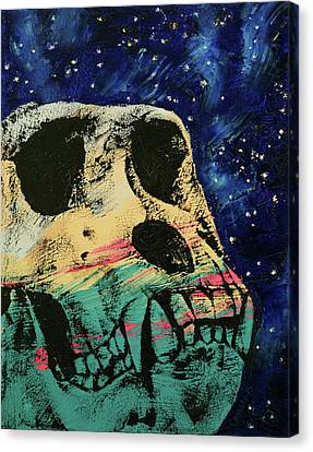 Gorilla Skull Canvas Print by Michael Creese