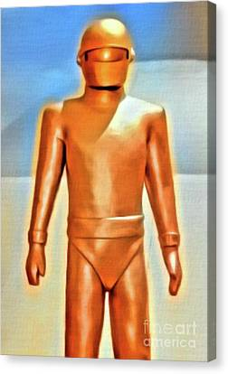 Gort From The Day The Earth Stood Still. Digital Art By Mb Canvas Print by Mary Bassett