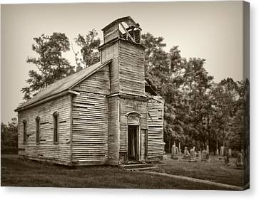 Headstones Canvas Print - Gospel Center Church Iv by Tom Mc Nemar