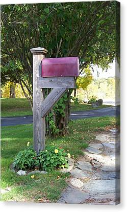 Canvas Print featuring the digital art Got Mail by Barbara S Nickerson