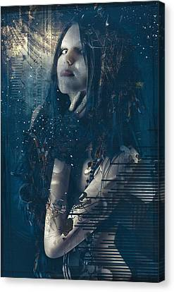 Goth Girl Canvas Print by Rosemary Smith