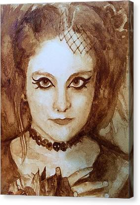 Goth Lady Canvas Print by Chrissey Dittus
