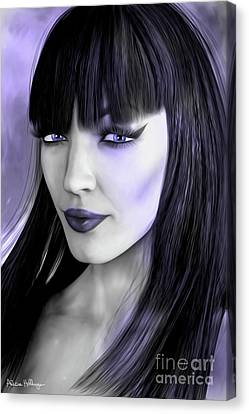 Goth Portrait Purple Canvas Print by Alicia Hollinger