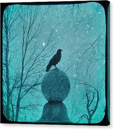 Goth Snow Globe Canvas Print by Gothicolors Donna Snyder