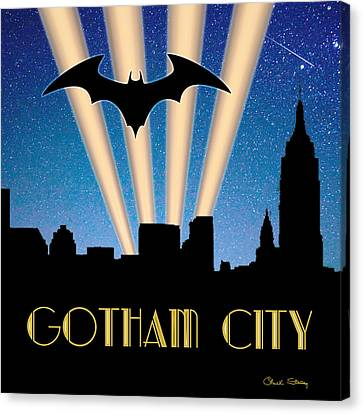 Times Square Canvas Print - Gotham City by Chuck Staley
