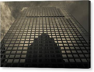 Canvas Print featuring the photograph Gotham City by Lora Lee Chapman