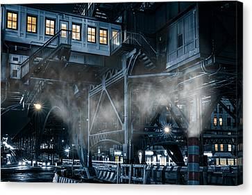 Canvas Print featuring the photograph Gotham City by Mihai Andritoiu