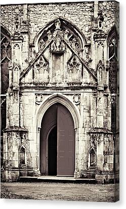 Medieval Entrance Canvas Print - Gothic And Grungy by Tom Gowanlock