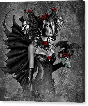 Gothic Beauty Canvas Print by Ali Oppy