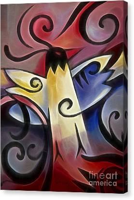 Gothic Bird Canvas Print by Lutz Baar