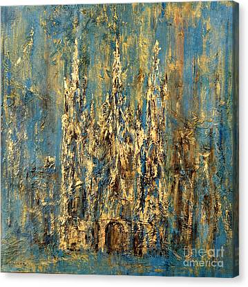 Canvas Print featuring the painting Gothic Church  by Arturas Slapsys