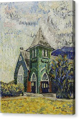 Gothic Green II Canvas Print by Alan Mager