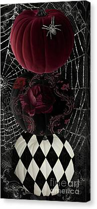 Gothic Halloween Canvas Print by Mindy Sommers