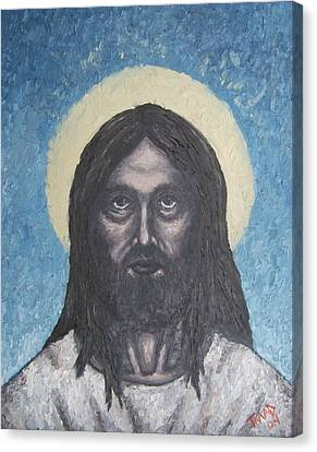 Canvas Print featuring the painting Gothic Jesus by Michael  TMAD Finney