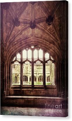 Gothic Window Canvas Print by Jill Battaglia