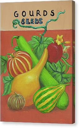 Gourd Seed Packet Orange Canvas Print
