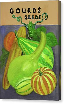 Gourd Seed Packet Purple Canvas Print