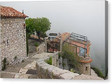 Gourdon In The Clouds Canvas Print by Marilyn Dunlap