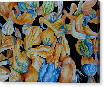 Gourds Galore Canvas Print by Rosie Brown