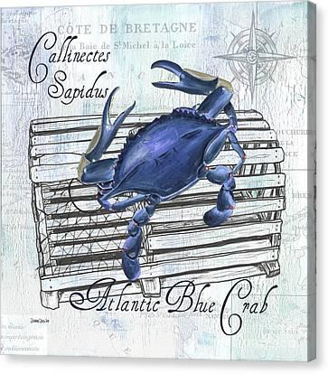 Boiled Canvas Print - Gourmet Shellfish 1 by Debbie DeWitt