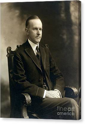 Governor Calvin Coolidge, 1919 Canvas Print by Science Source