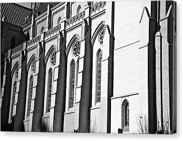 Grace Cathedral Canvas Print by Larry Butterworth