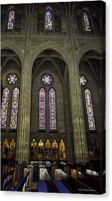 Grace Cathedral Stained Windows Canvas Print