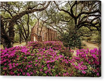 Grace Episcopal Church - St. Francisville Canvas Print by Scott Pellegrin