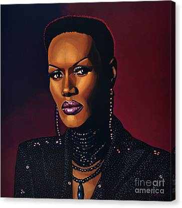 Grace Jones Canvas Print by Paul Meijering