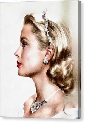 Grace Kelly, Actress And Princess Canvas Print by John Springfield