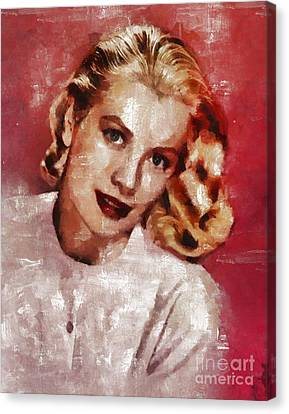 Grace Kelly, Actress And Princess Canvas Print by Mary Bassett