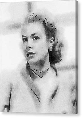 Grace Kelly Canvas Print - Grace Kelly By John Springfield by John Springfield