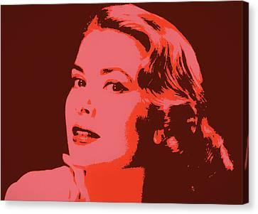Grace Kelly Pop Art Canvas Print by Dan Sproul
