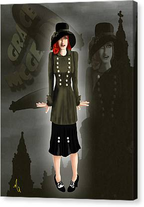 Grace Mcgeary - Death On The Empress Canvas Print by Michelle Rene Goodhew